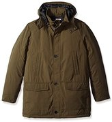 Perry Ellis Men's Microfiber Parka with Hood