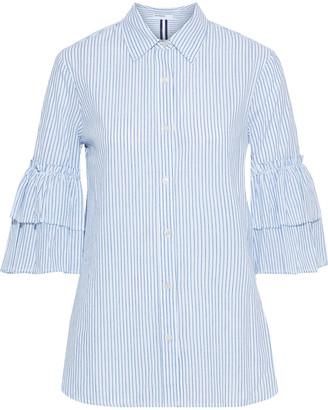 Stateside Tiered Striped Cotton Shirt