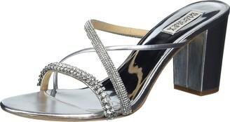 Badgley Mischka Women's Slide Block Heel Heeled Sandal