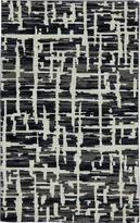 Karastan Panache Grasscloth Black Rug (56 X 83)
