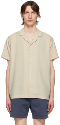 Schnaydermans Beige Tencel Short Sleeve Shirt