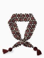 Kate Spade Floral tile silk skinny scarf