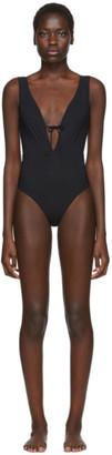 Rudi Gernreich Black Plunge One-Piece Swimsuit