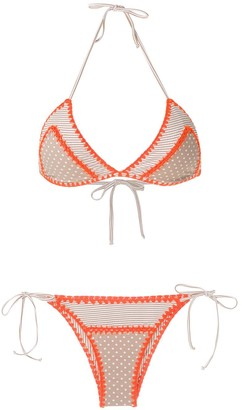 BRIGITTE Crochet Trim Bikini Set