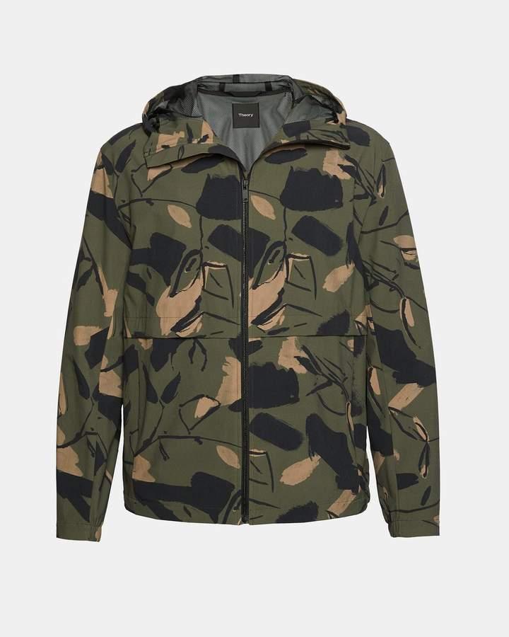 Theory Camo Hooded Tech Jacket