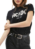 Topshop AC/DC Nibbled T-Shirt by And Finally