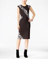 Rachel Roy Lace Scuba Sheath Dress