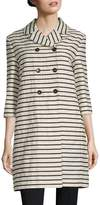 Max Mara Women's Striped Double-Breasted Coat
