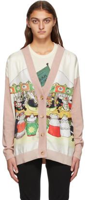Lanvin Pink Barbar Edition Print Cardigan