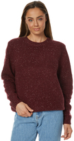 Rusty Womens Idaho Crew Neck Knit Red