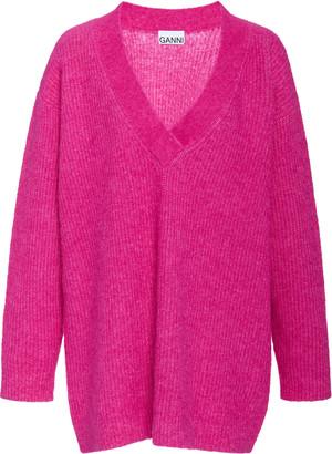 Ganni Oversized Wool Knit Sweater