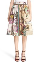 Etro Women's Animal Postcard Print Skirt