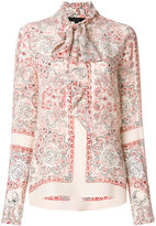 Belstaff Alene high-neck printed shirt - women - Silk - 42