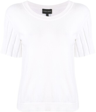 Emporio Armani ribbed sleeves knitted T-shirt
