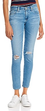 AG Jeans Mid-Rise Ankle Skinny Jeans in 16 Years Composure Destructed