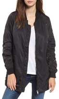Steve Madden Women's Long Bomber Jacket