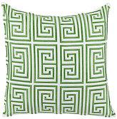 Trina Turk Trellis Greek Key-Embroidered Pillow