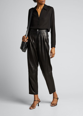 L'Agence Nina Collared Button-Down Blouse
