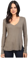 Splendid 1x1 Long Sleeve V-Neck Top
