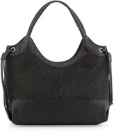 French Connection Dallas Woven Tote Bag, Black