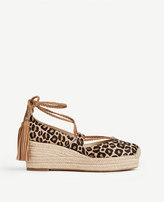 Ann Taylor Home All Shoes Elsa Leopard Print Haircalf Espadrille Wedges Elsa Leopard Print Haircalf Espadrille Wedges
