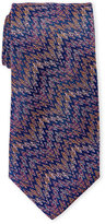 Missoni Purple Silk Zig Zag Tie