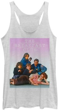 Fifth Sun Breakfast Club Group Pose Faded Background Tri-Blend Racer Back Tank