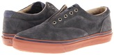 Sperry Striper Laceless Suede (Grey/Brown/White) - Footwear