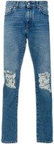 MSGM destroyed denim pants - men - Cotton/Polyester - 46