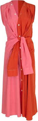 Marni Sleeveless Two Tone Shirt Dress