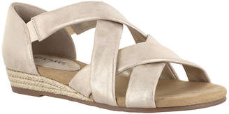 Easy Street Shoes Womens Zora Wedge Sandals