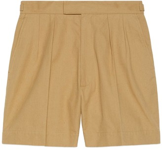 Gucci Raw cotton shorts