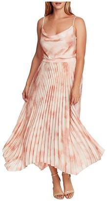 Vince Camuto Vapor Whisper Asymmetrical Hem Pleated Skirt (Tuberose) Women's Skirt