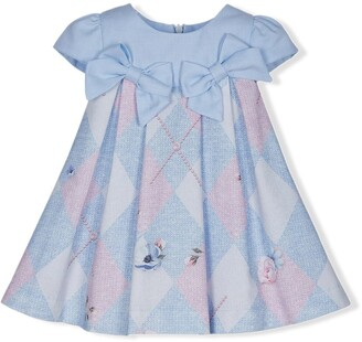 Lapin House Argyle Check Print Dress