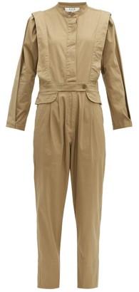 Sea Tula Pleated Cotton-blend Jumpsuit - Beige