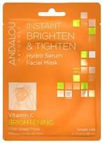 Andalou Naturals Instant Brighten & Tighten Hydro Serum Facial Mask Vitamin C, Single Use
