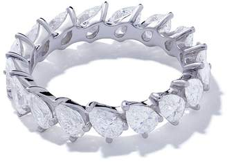 As 29 AS29 18kt white gold Mye pear diamond eternity ring