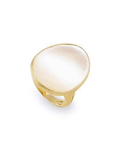 Marco Bicego Lunaria Mother-of-Pearl Ring in 18K Yellow Gold, Size 7