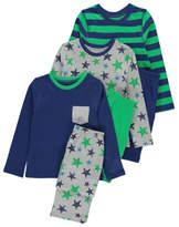 George Assorted Printed Pyjamas 3 Pack