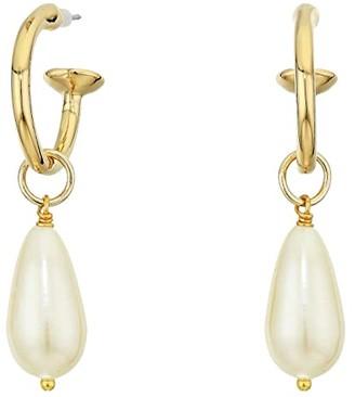 Vanessa Mooney The Pearl Drop Earrings (Gold) Earring