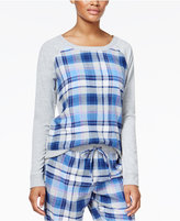 Jenni by Jennifer Moore Plaid-Panel Pajama Top, Only at Macy's