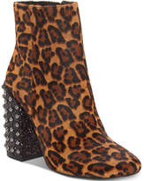 Jessica Simpson Wexton Studded Block-Heel Booties Women's Shoes