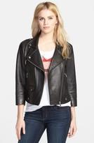 Rebecca Minkoff Women's Wes Neoprene Panel Moto Jacket
