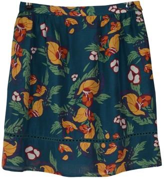Comptoir des Cotonniers Green Linen Skirt for Women