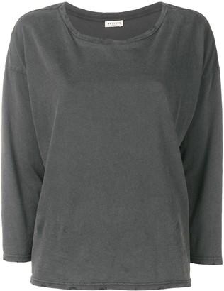 Masscob distressed long sleeve T-shirt