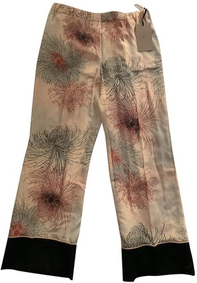 N°21 N21 Pink Silk Trousers for Women