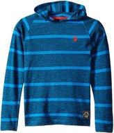 U.S. Polo Assn. Big Boys' Space Dyed Pique Hooded Pullover