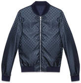 Gucci Reversible GG jacquard nylon bomber jacket