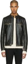 Belstaff Black Leather Landrake 2.0 Biker Jacket