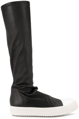 Rick Owens stretch fit knee high boots